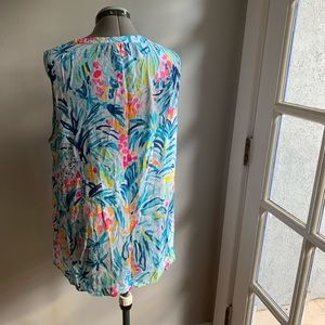 Lilly Pulitzer Tops - Lilly Pulitzer Stacey blouse, Tippy Top, XL